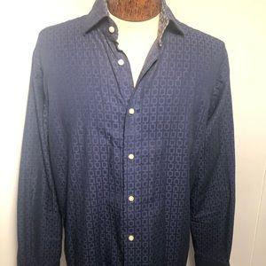 Mens Blue Dress Shirt. Size medium. Like New